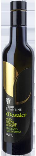 Bottiglie olio oliva extravergine - Linea Mosaico